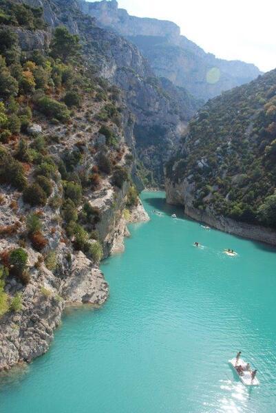 L'entrée du canyon du Verdon