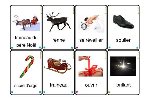 cartes à jouer Noël lexique serie4