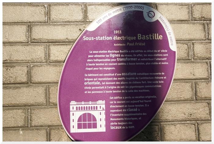 RATP. Sous Station Electrique Bastille