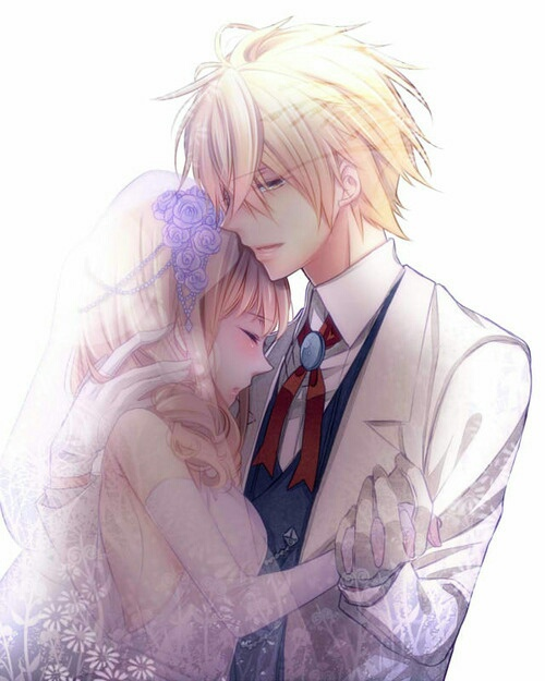 Image de anime, couple, and wedding