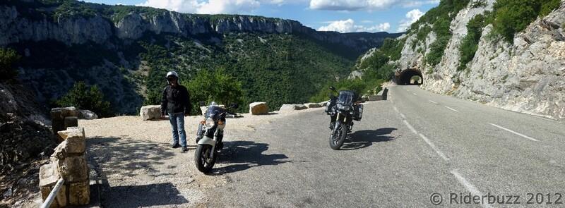 Un Premier jour à moto dans les gorges de l'Ardèche
