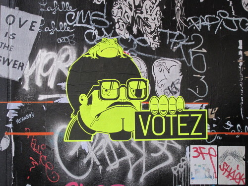 Point Ephémère street-art votez message 7069