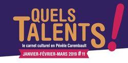 Carnet culturel Pévèle Carembault mars et avril 2018