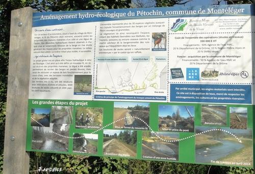 A Montéléger le long du Pétochin et de la Véore