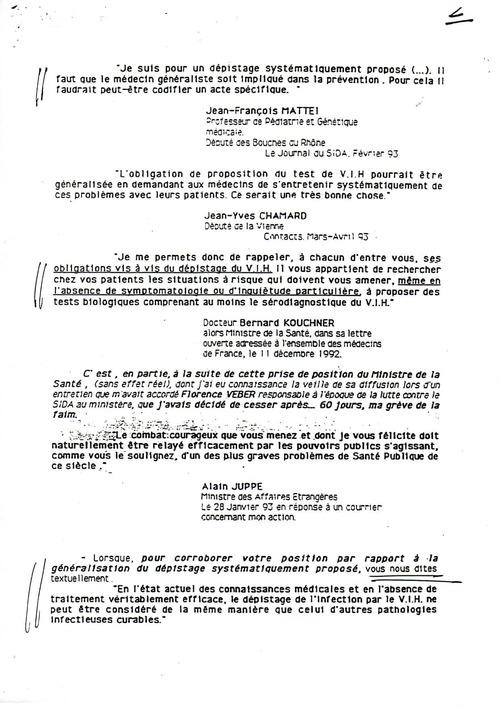 * Juin 1993 lettre à Jean de SAVIGNY