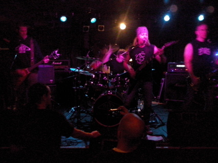Shock delivered forty-five minutes of furious thrash metal