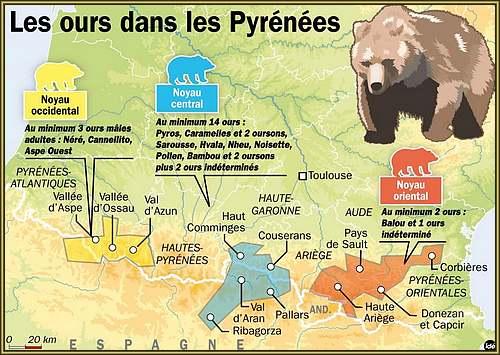 Le grand Almanach de la France : L'OURS DES PYRENEES