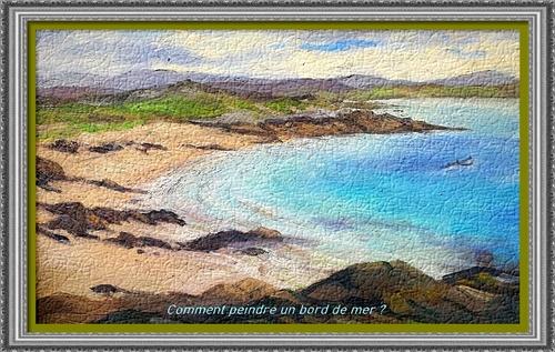 Dessin et peinture - vidéo 2965 : Comment peindre un bord de mer ? - huile ou acrylique.