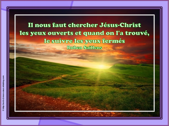 Chercher Jésus-Christ