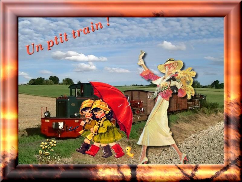 Défi pour Marjolaine ( Un petit train )