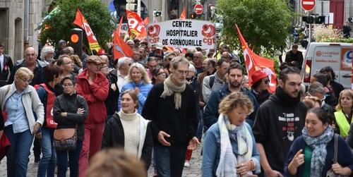 Compte-rendu des manifestations du 12/09 contre les Ordonnances -Lois travail XXXL en Finistère selon la PQR