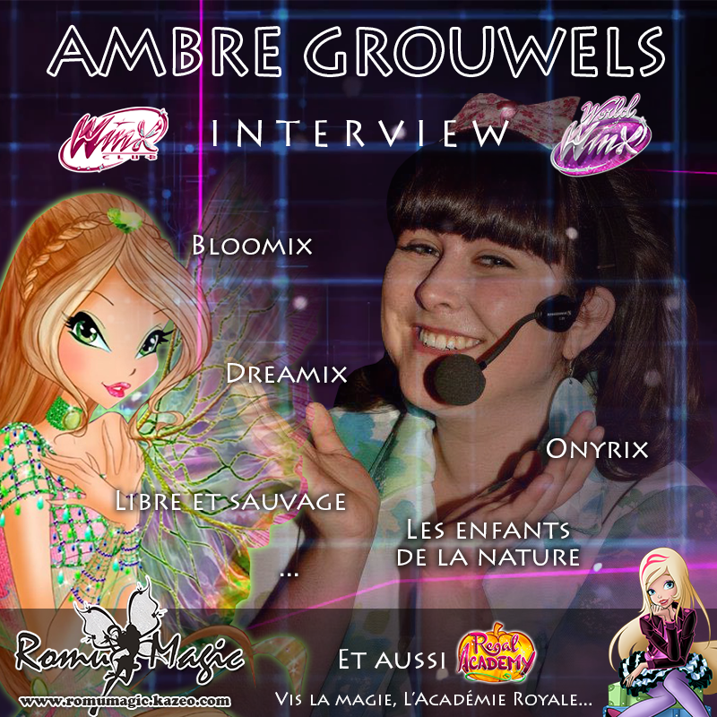 Bientôt : Interview de l'interprète de Bloomix, Dreamix, Onyrix...