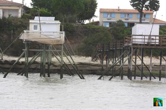 La traversée et l'arrivée a MESCHERS en Charente Maritime.