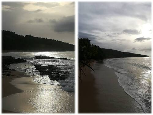 Bain du soir à Anse des Îles