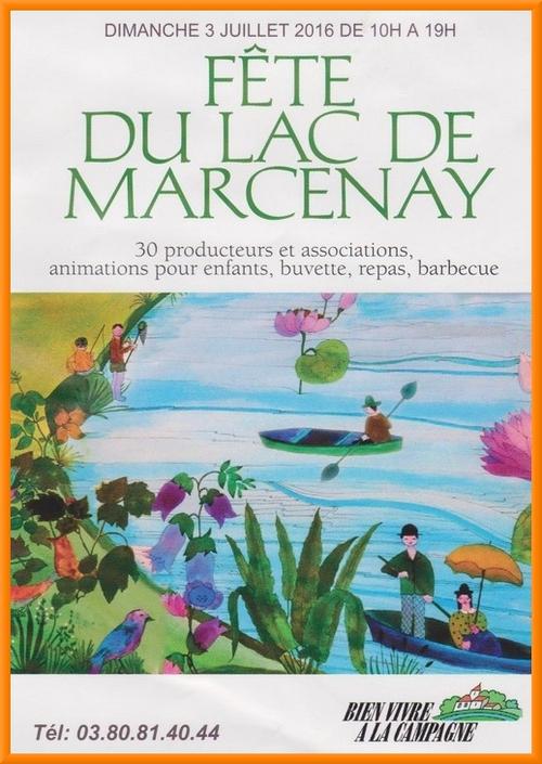 La fête du Lac de Marcenay aura lieu le 3 juillet....