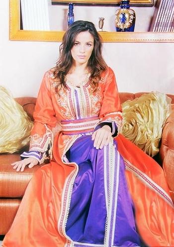 Takchita 2015 de haute couture marocain pour mariage avec caftan simple pas cher TAK-S856
