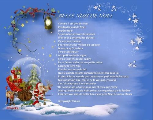 Belle nuit de Noël ( Poème Théma)