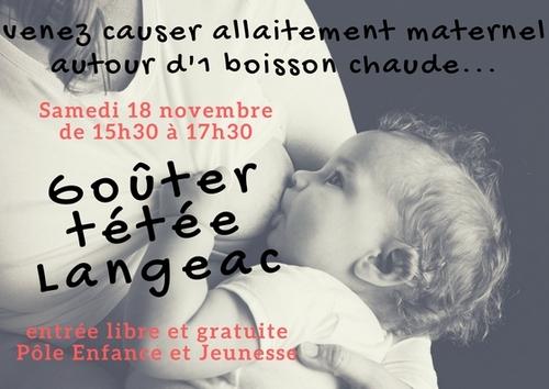 Venez causer allaitement le samedi 18 novembre 2017 à Langeac