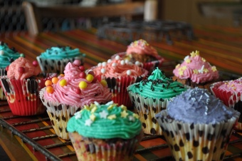 Cupcakes aux pépites de chocolat et crème au beurre