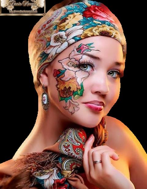 Tubes Femme peinte
