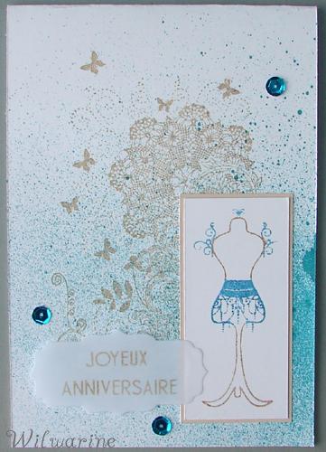 carte anniversaire femme bleue
