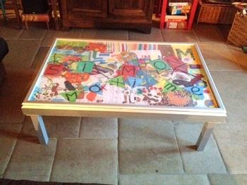 table basse, table de jeu enfant