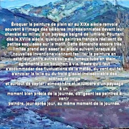 Dessin et peinture - vidéo 3548 : La peinture en plein air - huile ou acrylique épaisse.