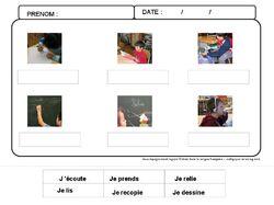 Entrez dans la langue française... imagier des consignes