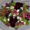 salade jeunes pouces jambon framboises