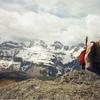Arrivée au sommet du pic d'Arnoussère (2034 m)