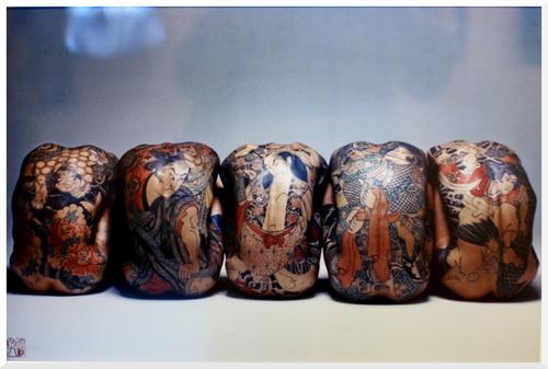 Exposition Tatoueurs Tatoués au musée du Quai-Branly. Paris.
