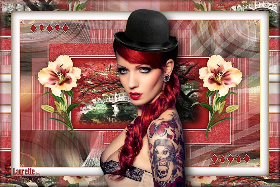 pour avoir utilisé mon tube Femme tatouée.