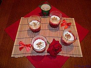 Verrines de framboises à la chantilly(ma recette)