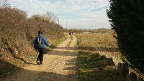 marche nordique sante a st Cyr Ardèche