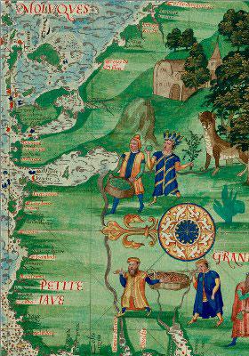 Guillaume Le Testu, Iles aux épices (Indonésie), Cosmographie universelle, 1555, Bibliothèque du Service Historique de l'Armée de Terre, Vincennes