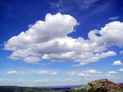 La tête dans les nuages.