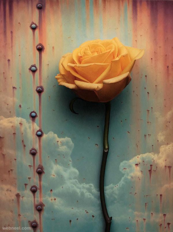 flower painting by patrick kramer