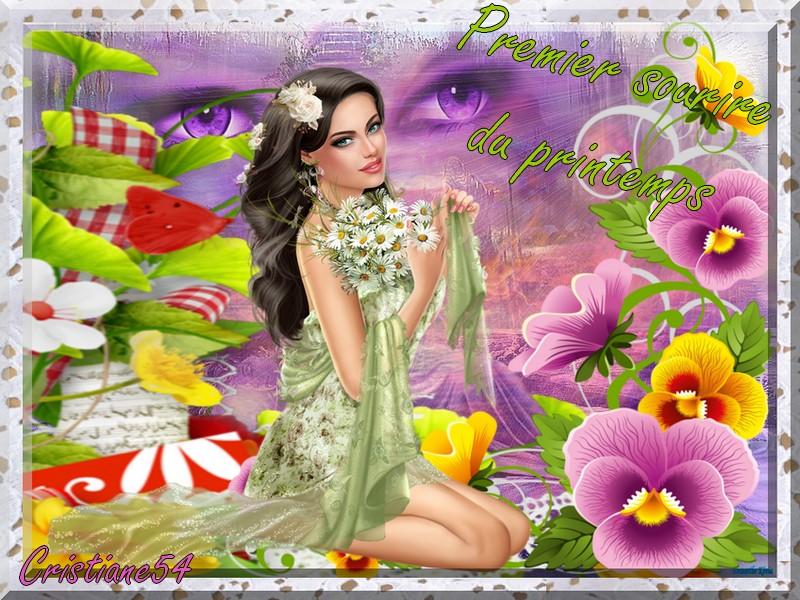 Défi pour Marjolaine (premier sourire du printemps )
