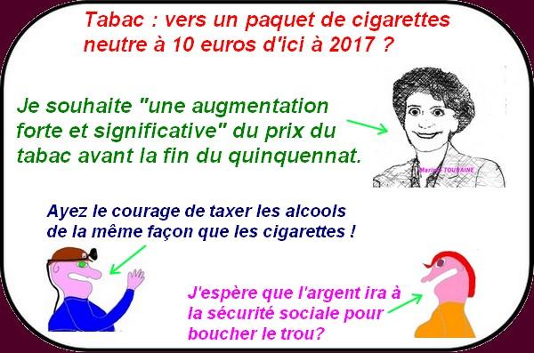 10€ le paquet de cigarettes