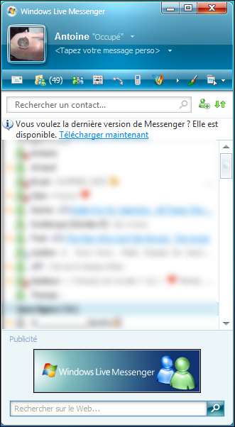 [MSN - Windows Live Messenger] Supprimer la Publicité