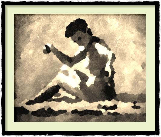 Dessin et peinture - vidéo 2402 : Bronzage sur la plage - nu à la peinture à l'huile.