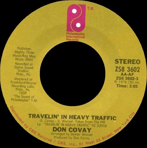 "Don Covay : Album "" Travelin' In Heavy Traffic "" Philadelphia International Records PZ 33958 [ US ]"