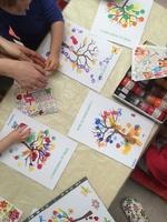 Arbre de printemps - Atelier crèche des Petits Mousses (mars 2016)