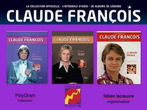 la collection officielle l'intégrale studio 30 albums de légende Claude François
