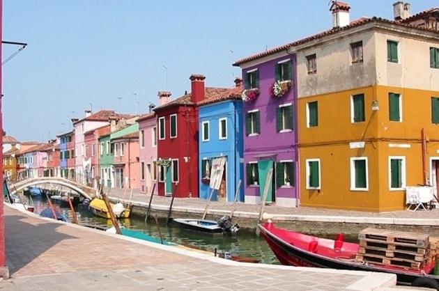 Quartier coloré de Burano