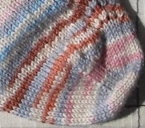 Tricoter ses chaussettes : la pointe - étape 1