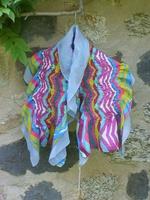 Echarpe en soie feutrée