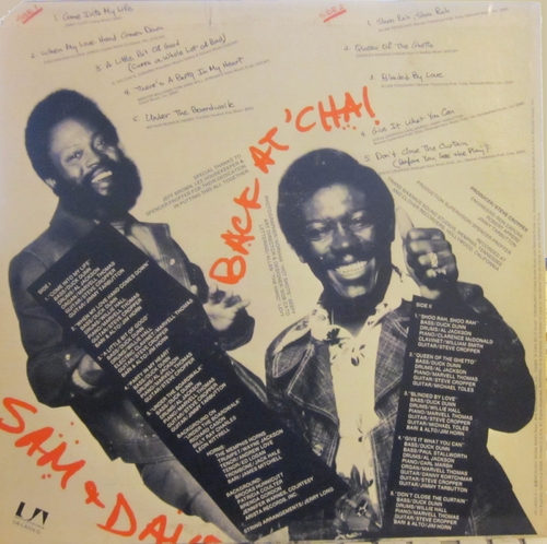 "Sam & Dave : Album "" Back At 'Cha ! "" United Artists Records ‎UA-LA524-G [ US ]"