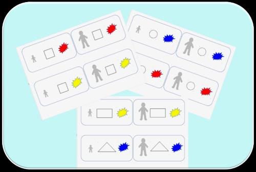 Etiquettes de tri de formes