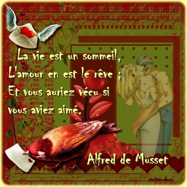 citation illustrée amour pour la st valentin de de musset